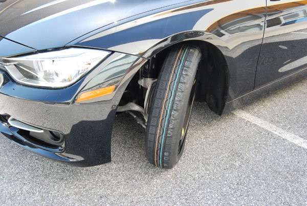 A space-saver tire. It looks really dodgy.